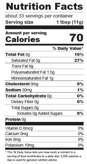 Vegan Butter Nutrition Facts