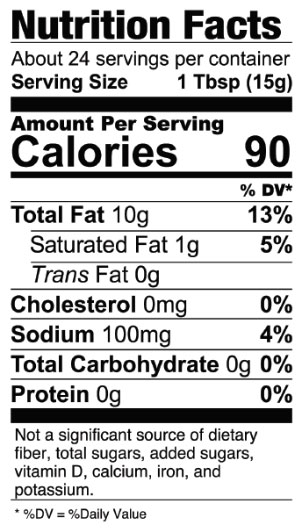 Vegan Mayo Nutrition Facts